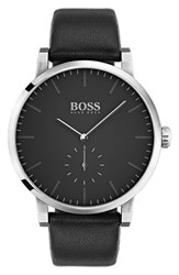 Boss Essence Leather Strap Watch 42Mm
