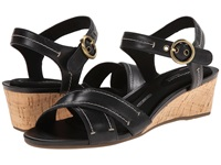 Rockport Total Motion 55Mm Quarter Strap Black Smooth Casual Women's Sandals
