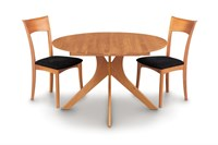 Copeland Furniture Audrey Round Extension Table Natural Cherry 48 Inch Light Brown