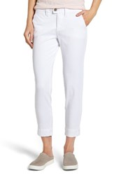 Jag Jeans Women's Creston Ankle Crop Stretch Twill Pants White
