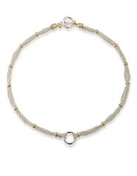 Lauren Ralph Lauren 12K Goldplated Chain And Ring Collar Necklace Two Tone