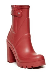 Hunter Original Waterproof High Heel Boot Red