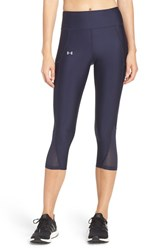 Under Armour Women's 'Fly By' Colorblock Capris Midnight Navy Reflective