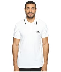 Adidas Essex Polo White Black Men's Short Sleeve Pullover