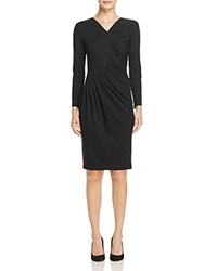 Emporio Armani Cresent Ruched Front Dress Black