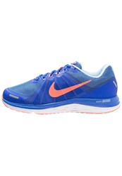 Nike Performance Dual Fusion X 2 Cushioned Running Shoes Racer Blue Bright Mango Bluecap White Reflect Silver