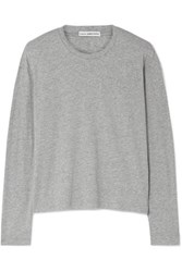 James Perse Cotton Jersey Top Gray