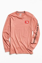 The North Face Patch Long Sleeve Tee Light Red