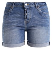 Tom Tailor Denim Cajsa Denim Shorts Light Stone Wash Denim Grey Denim