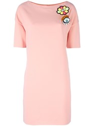 Boutique Moschino Boat Neck Embellished Dress Pink Purple