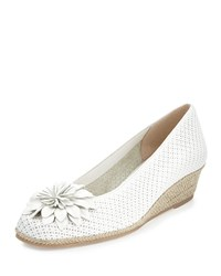 Sesto Meucci Mae Perforated Demi Wedge Pump White Women's