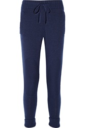Mm6 Maison Margiela Knitted Skinny Pants Blue