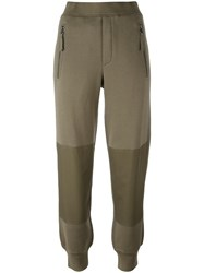Helmut Lang Knee Patch Track Pants Green