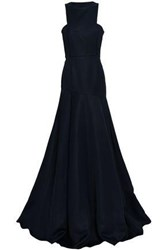 Safiyaa Flared Duchesse Satin Gown Midnight Blue