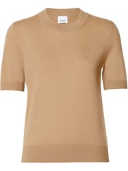 Burberry Monogram Motif Cashmere Top Neutrals