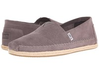 Toms Seasonal Classics Grey Suede Men's Slip On Shoes Gray