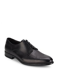 Bruno Magli Maitland Solid Leather Derby Shoes Black