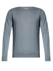 Valentino Crew Neck Cashmere Sweater Blue