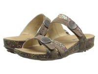 Romika Fidschi 22 Taupe Shiny Velour Women's Sandals Pewter