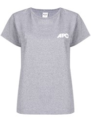 A.P.C. Loose Fitted T Shirt Grey