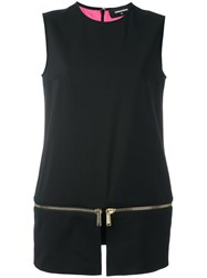 Dsquared2 Side Zip Detail Blouse Black