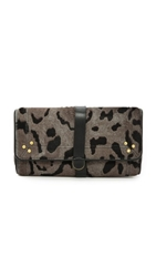 Jerome Dreyfuss Paf Haircalf Leopard Clutch Grey Leopard