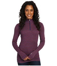 Smartwool Nts Mid 250 Pattern Zip Top Mountain Purple Heather Moab Rust Heather Women's Long Sleeve Pullover