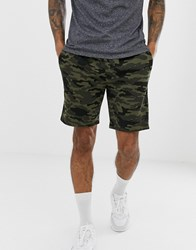 French Connection Camo Jersey Shorts Multi