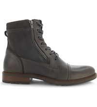Aldo Freowine Leather Ankle Boots Dark Grey
