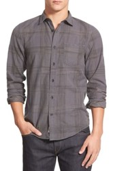 1901 'Greenwood' Trim Fit Plaid Sport Shirt Gray
