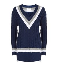 Public School Nyc Cable Knit Jumper Female Blue