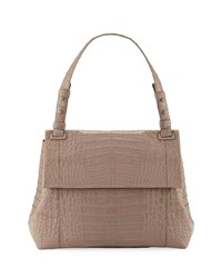 Nancy Gonzalez Sophie Crocodile Shoulder Bag Sand