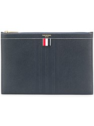 Thom Browne Small Zipped Tablet Holder Blue