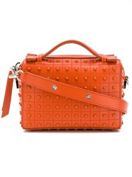 Tod's Studded Cross Body Bag Orange