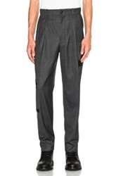 Casely Hayford Beckwith Frayed Effect Tapered Trousers In Gray Checkered And Plaid