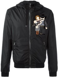 Dolce And Gabbana Cowboy Family Patch Jacket Black