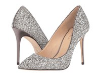 Imagine Vince Camuto Olson Storm Grey Plat Crystal Delux Satin Women's Shoes Silver