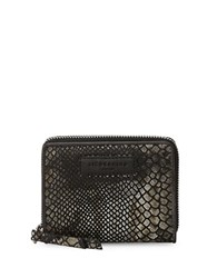 Liebeskind Conny F7 Snakeskin Embossed Leather Wallet Black