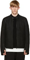 Isabel Benenato Black Shearling Jacket