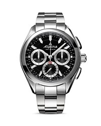 Alpina Alpiner 4 Manufacture Flyback Chronograph 45Mm Black Silver