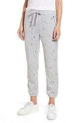 Juicy Couture Velour Studded Track Pants Silver Lining