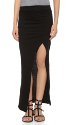 Pam And Gela Maxi Skirt With Slit Black