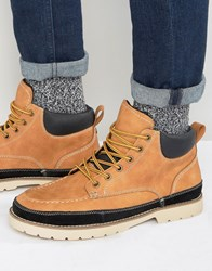 Call It Spring Botts Laceup Boots Tan