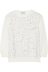 Maison Kitsune Boucle Tweed And Knitted Sweater