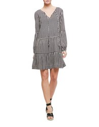 Sanctuary Bishop Sleeve Gingham Check Dress Picnic
