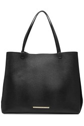 Roland Mouret Leather Tote With Suede Black