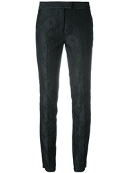 Christian Pellizzari Tapered Jacquard Trousers Black