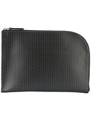 Alexander Mcqueen Micro Skull Curved Clutch Men Leather One Size Black