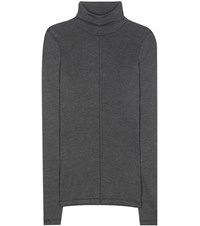 Tom Ford Silk And Wool Turtleneck Sweater Grey