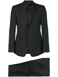 Dolce And Gabbana Textured Two Piece Suit Black